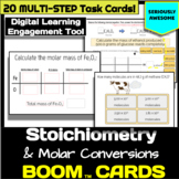 Stoichiometry and Molar Conversion Digital Task Cards - Boom Deck
