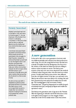 Stokely Carmichael and Black Power Study Guide
