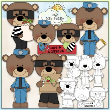 Stole My Heart Bears Clip Art - Valentine's Day Clip Art - CU Clip Art & B&W