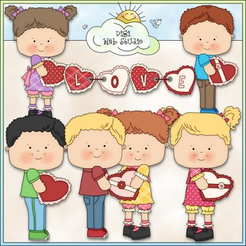 Stole My Heart Kids Clip Art - Valentine's Day Clip Art -