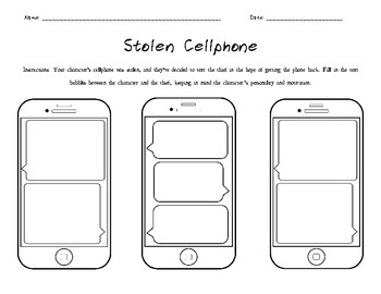 Stolen Cellphone -- A Character Analysis Assignment