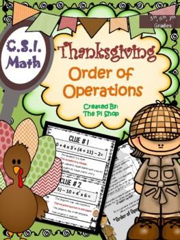 Kidnapped Turkey {C.S.I. Math Review} NO PREP