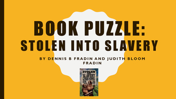 Stolen into Slavery Book Puzzle, Literature Circle, Hands on, Center/Station