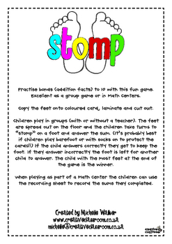 Stomp - Addition facts to 10