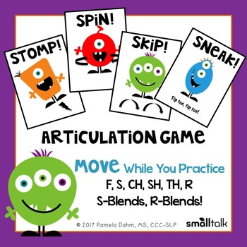 Stomp, Skip, Spin, Sneak! An Action Game for Articulation