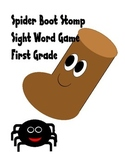 Stomp that Spider! Sight word Game