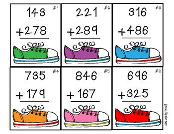 Stompin' Through Three-Digit Addition (with regrouping) 2.NBT.7