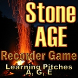 "Recorder Game ""Stone AGE"" - Pitches A, G, and E - Elementary Music"