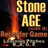 "Recorder Game ""Stone AGE"" (with B) - Pitches B, A, G, E (BAGE) Elementary Music"