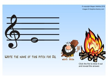 """Recorder Game """"Stone AGE"""" (with B) - Pitches B, A, G, E (BAGE) Elementary Music"""