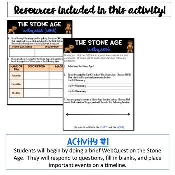 Stone Age Activity and Lucy WebQuest Bundle {Digital}