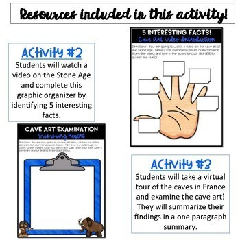Stone Age Activity and Lucy WebQuest Bundle {Digital}