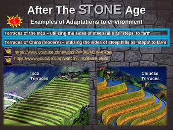 Stone Age - Adaptations to Environment - PART 2 of 50-slide PPT