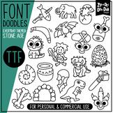 Stone Age Doodle Font {Zip-A-Dee-Doo-Dah Designs}