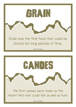 Stone Age Fact Cards