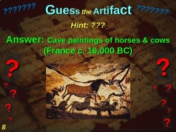 "Stone Age ""Guess the artifact"" game: PPT w pictures & clues"