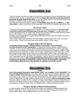 Stone Age Handout / Notes