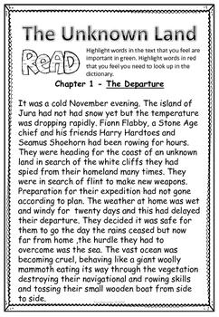 Stone Age Mini-Novel