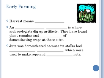 Stone Age Note Guide Powerpoint, 6th Grade Social Studies