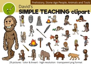 Stone Age - Prehistoric Clipart - Edad de Piedra Clipart de la Prehistoria