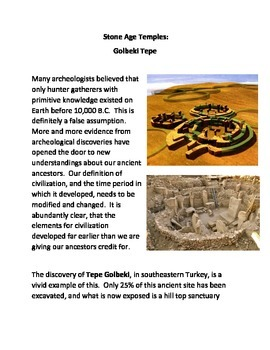 Stone Age Temples: Golbeki Tepe