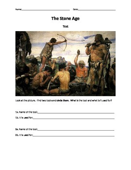 Stone Age Test/ Quiz/ Review