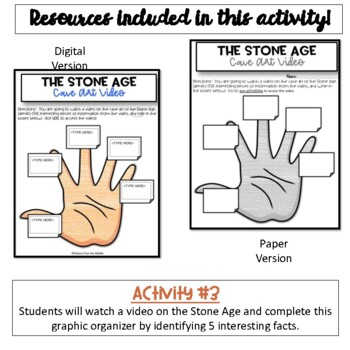 Early Human Timeline & Stone Age Activity
