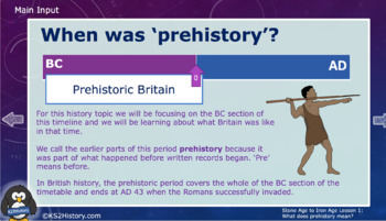 Stone Age to Iron Age Lesson 1: Introduction to Prehistory