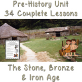 Stone Age to Iron Age Complete Unit of Work 34 lessons, Sc
