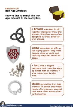 Stone Age to Iron Age Lesson 8: Iron Age Art