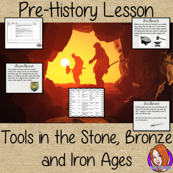 Stone Age to Iron Age tools lesson, Pre-history, Scavengers and Settlers