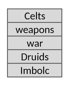 Stone Age to Iron Age vocabulary