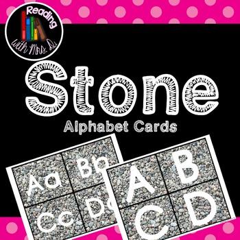 Stone Alphabet Cards