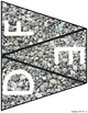 Stone Alphabet Pennants Banner Bunting