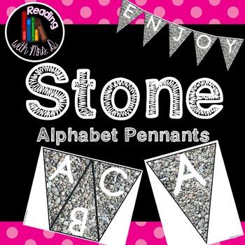 Stone Alphabet Pennants