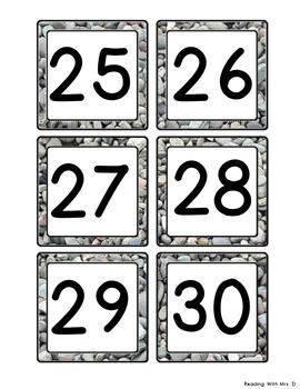 Stone Calendar Numbers