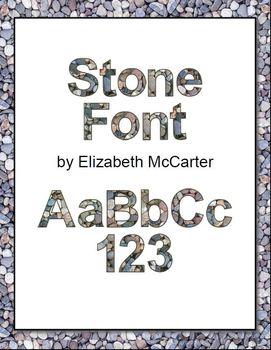 Font Clip Art: Stones