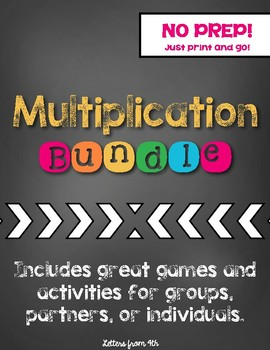 Multiplication Bundle (No Prep!)