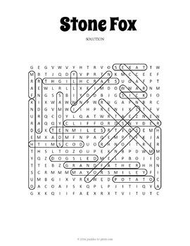 Stone Fox Word Search Puzzle