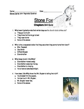 Stone Fox Chapter 6 Quiz