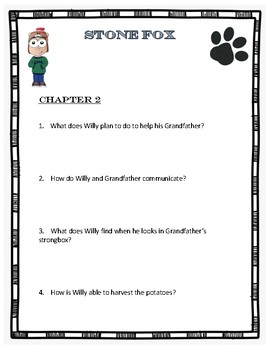 Stone Fox Chapter Questions