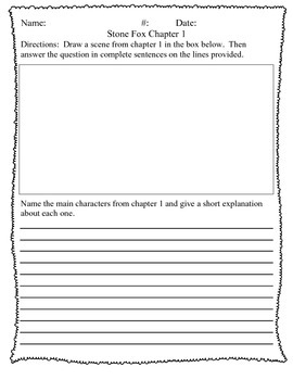 Stone Fox Chapter Questions for Third Grade