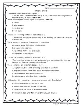 Stone Fox Chapter Quizzes-Inference, Figurative Language, Vocabulary & More!