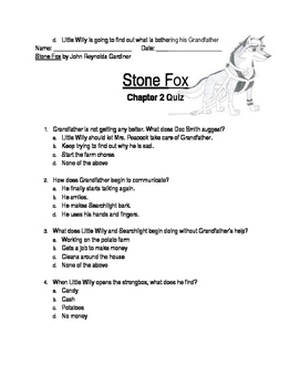 Stone Fox Chapters 1-4