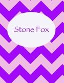 Stone Fox Chevron Binder Cover