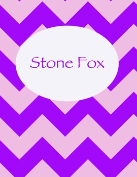 Stone Fox Chevron Binder Cover