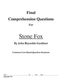 Stone Fox Comprehension Question for the end of the book