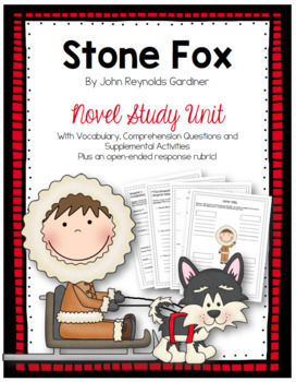 Stone Fox Comprehension Questions - Plus Vocabulary!