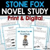 Stone Fox Novel Study | Printable and Easel