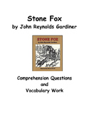 Stone Fox - Comprehension by Chapter